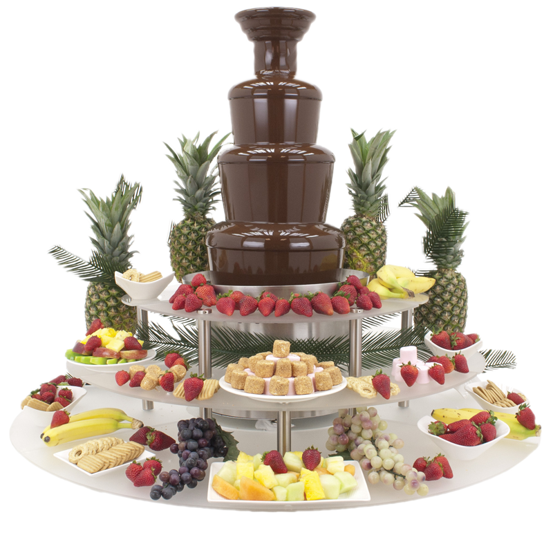 American Chocolate Fountain Display Riser 3 Tier Buffet