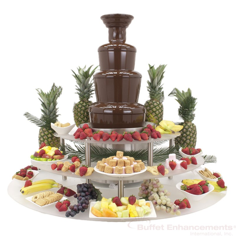3 Tier American Chocolate Fountain Display Riser Buffet