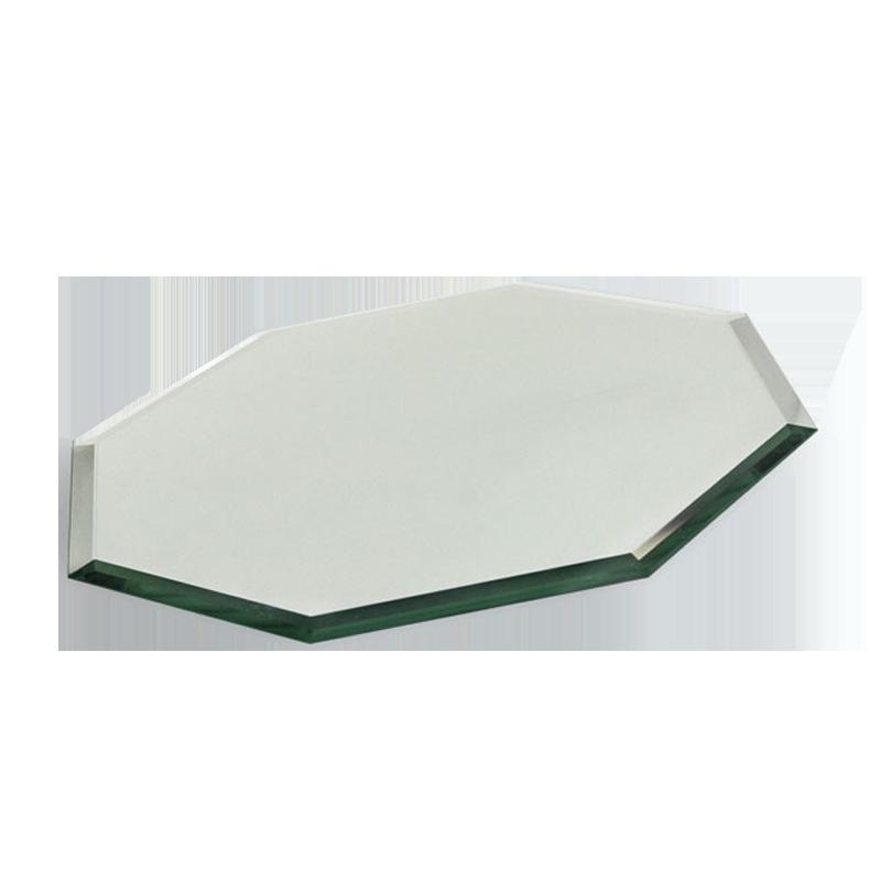 Beveled glass mirror octagon buffet enhancements