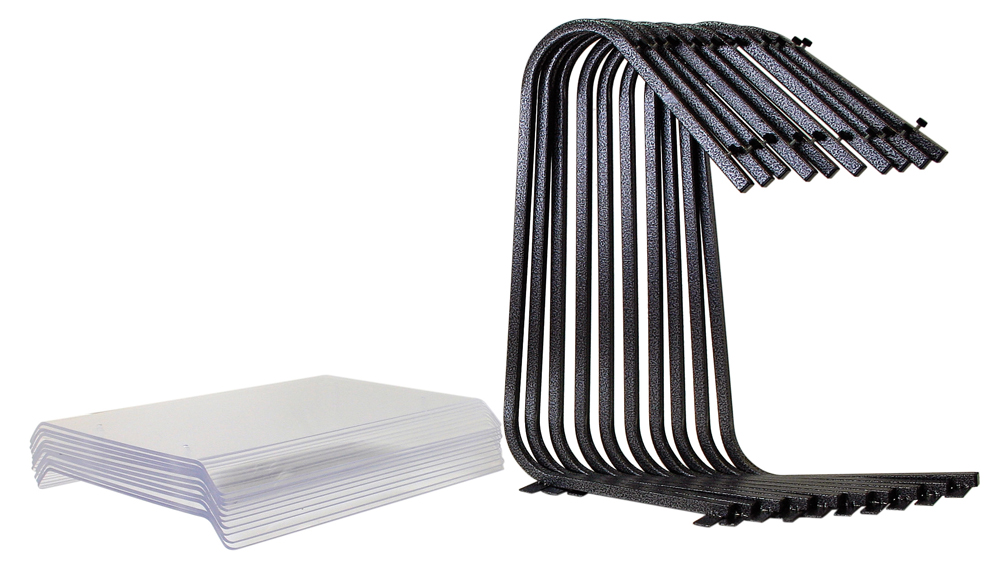 """1BSGP Economy Sneeze guard for buffets. Features optical 1/4"""" acrylic which is both durable and good looking. The legs are powder coated steel and free standing. The portable sneeze guard disassembles requiring no tools, and is made to be stored and transported broken down. In the time of Covid-19, this sneeze guard will help protect both your employees and guests. The dimensions are 48"""" long, 16"""" deep and 28"""" tall. Disassembled you can store 50 feet of sneeze-guard on a 4 foot shelf!"""