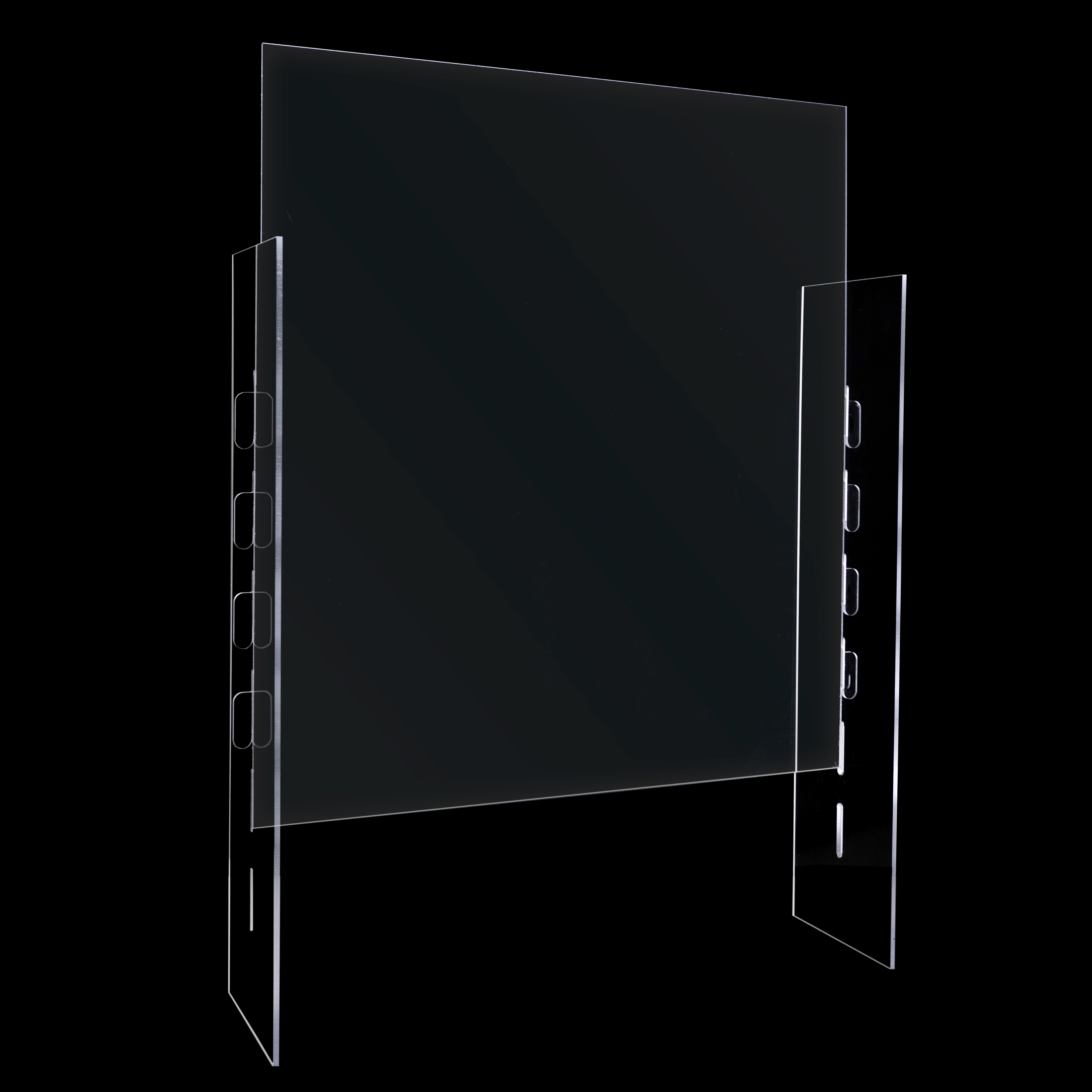 Covid-19 Adjustable plexiglass sneezeguard for 8 inch window, 4 inch window, or no window.