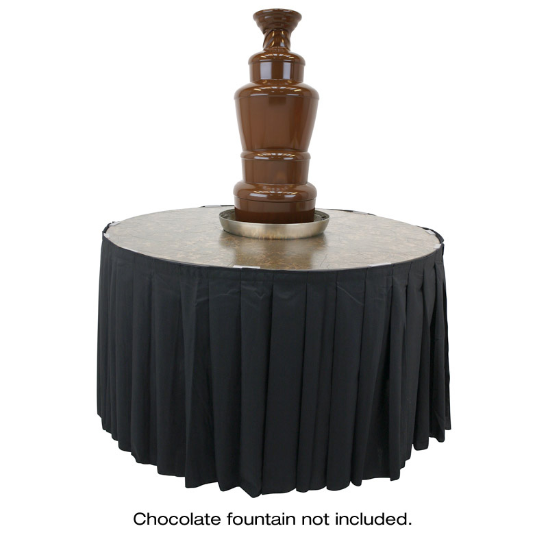 Chocolate fountain table skirting buffet enhancements watchthetrailerfo