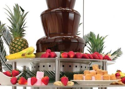Chocolate fountain, riser, buffet, food,